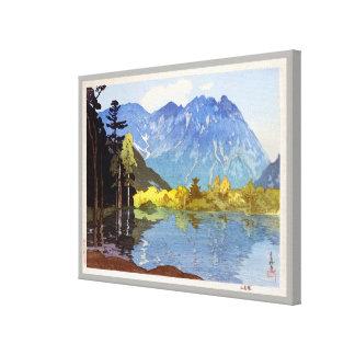 穂高岳, Mount Hotaka, Hiroshi Yoshida, Woodcut Canvas Print