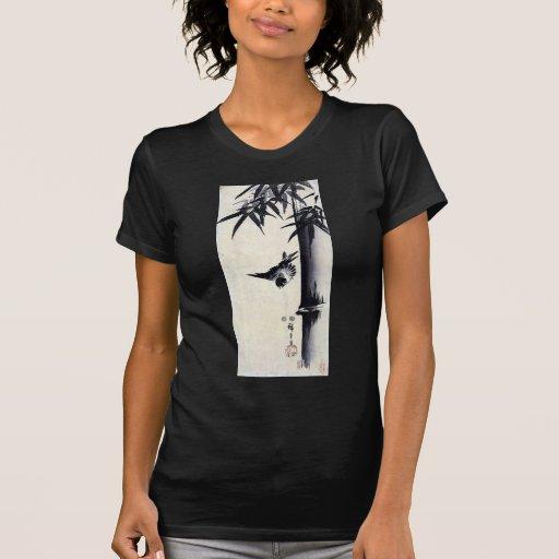 竹に雀, 歌川広重 Bamboo & Sparrow, Hiroshige, Sumi-e Tee Shirt