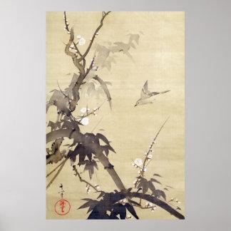 竹に鳥 其一 Bird and Bamboo Kiitsu Japan Art Posters