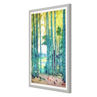 竹林, Bamboo grove, Hiroshi Yoshida, Woodcut Canvas Print