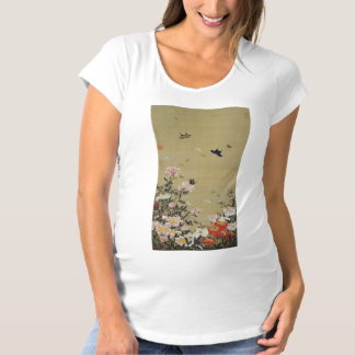 芍 medicine group butterfly figure Shakuyaku Maternity T-Shirt