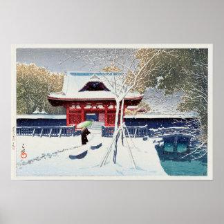芝公園の雪, Snow at Shiba Park, Tokyo, Hasui Kawase Poster