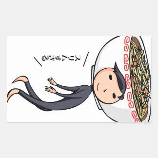 萌 palm boy English story Ramen shop Kanagawa Rectangular Sticker