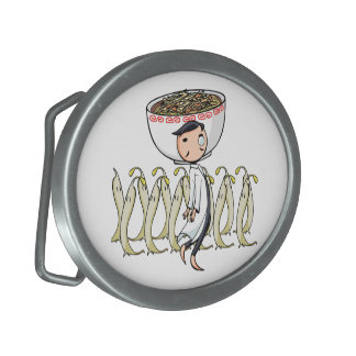 萌 palm doctor English story Ramen shop Kanagawa Oval Belt Buckle