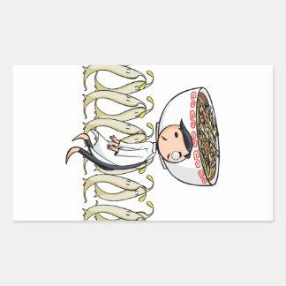 萌 palm doctor English story Ramen shop Kanagawa Rectangular Sticker