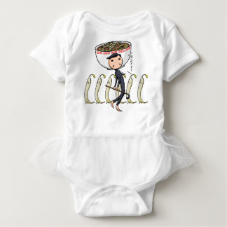 萌 palm gentleman English story Ramen shop Kanagawa Baby Bodysuit