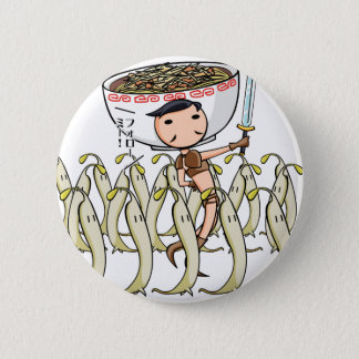 萌 palm soldier English story Ramen shop Kanagawa 6 Cm Round Badge