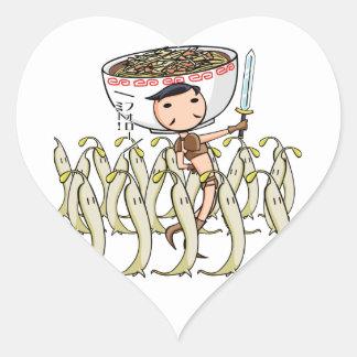 萌 palm soldier English story Ramen shop Kanagawa Heart Sticker