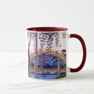 藤と太鼓橋, 広重 Wisteria and Arched Bridge, Hiroshige Mug