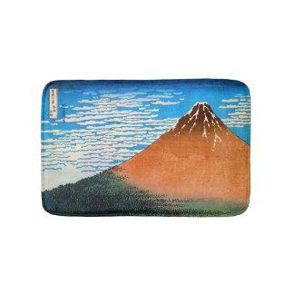 赤富士, 北斎 Red Mount Fuji, Hokusai, Ukiyo-e Bath Mat