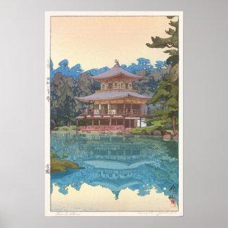 金閣寺, Kinkaku-ji, Hiroshi Yoshida, Woodcut Poster