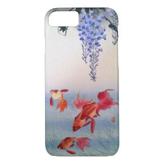 金魚と藤, 小原古邨 Goldfish and Wisteria, Ohara Koson iPhone 8/7 Case