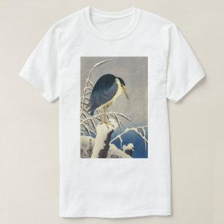 雪に青サギ, 小原古邨 Blue heron in the Snow, Ohara Koson T-Shirt