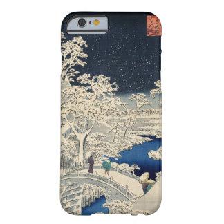雪の太鼓橋, 広重 Snowy Drum bridge, Hiroshige, Ukiyo-e iPhone 6 Case
