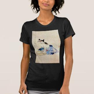 顔を洗う猫, 広重 Cat Face Wash, Hiroshige T-Shirt