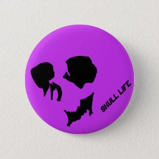 髑 髏 shadow 6 cm round badge