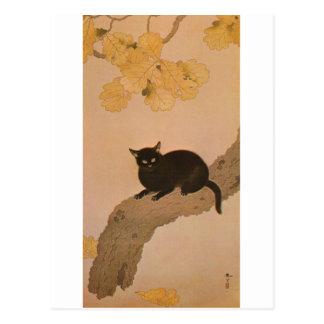 黒猫, 春草 Black Cat, Shunsō Postcard