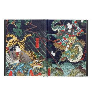 龍虎, 豊国 Dragon & Tiger, Toyokuni, Ukiyo-e Case For iPad Air