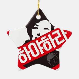 박근혜 OUT - Park Geun-Hye OUT! Ceramic Star Decoration