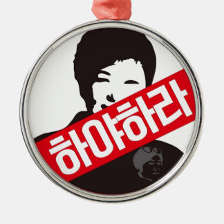 박근혜 OUT - Park Geun-Hye OUT! Silver-Colored Round Decoration