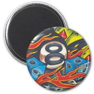 00001 Bola 8 Llamas Magnet