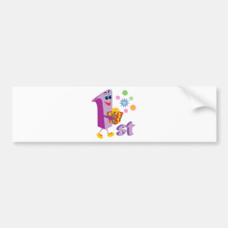 0001 1st COLORFUL CARTOON NUMBER PARTY SPECIAL OCC Bumper Stickers