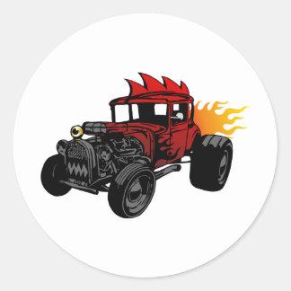 00073 Hot Rod Classic Round Sticker