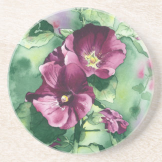 0007 Dorothy's Hollyhocks Sandstone Coaster