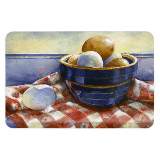 0008 Eggs in Blue Bowl Apron Magnet