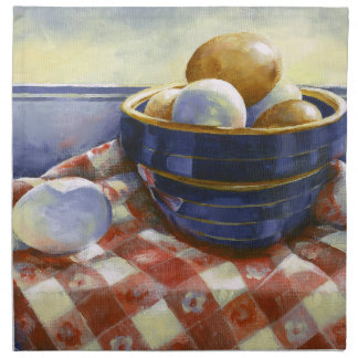 0008 Eggs in Blue Bowl Cloth Napkins
