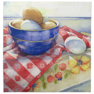 0009 Eggs in Blue Bowl Cloth Napkins