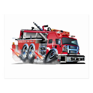 000-firetruck postcard