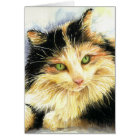 0010 Calico Cat Birthday Card