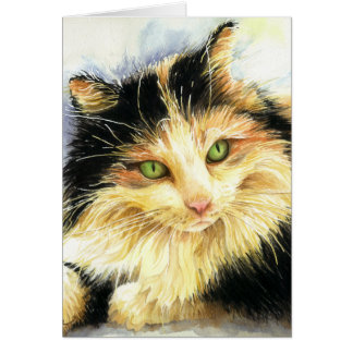 0010 Calico Cat Birthday Card