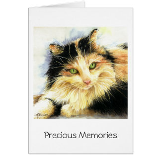 0010 Calico Cat Sympathy Card
