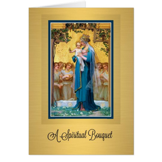 0019 Catholic Spiritual Bouquet Prayer Card