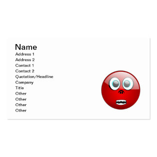 0021_Vector_Clipart funny faces red laughs express Business Card Template