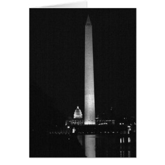 0031 Washington's Glow (Night B&W).JPG Card