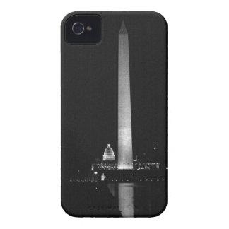 0031 Washington's Glow (Night B&W).JPG iPhone 4 Case-Mate Case