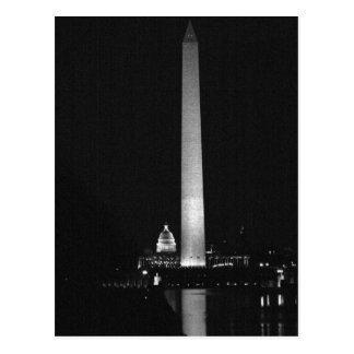 0031 Washington's Glow (Night B&W).JPG Postcard