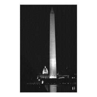 0031 Washington's Glow (Night B&W).JPG Stationery