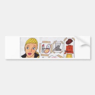 003.jpg busy woman bumper sticker