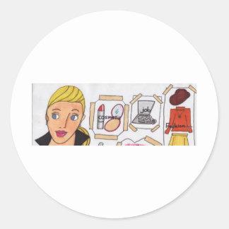 003.jpg busy woman round sticker
