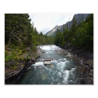 0054 8/12 McDonald falls in Glacier. Photo Print