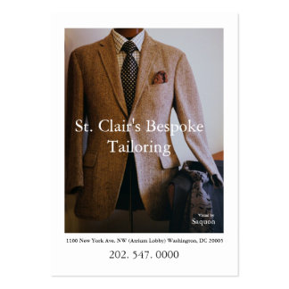 0065720-R3-007-2, St. Clair's Bespoke Tailoring... Pack Of Chubby Business Cards