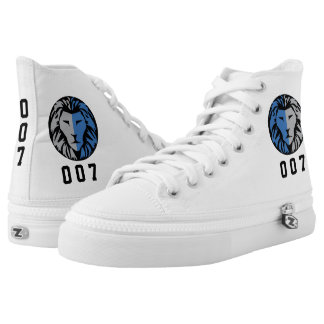 007 Lion Logo High Top Shoes Custom Number or Name