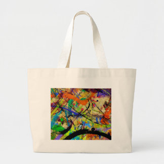 008 Paint in Abstract on Work Table 20x24.jpg Jumbo Tote Bag