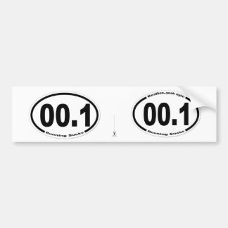 00.1    Running Sucks!! Bumper Sticker