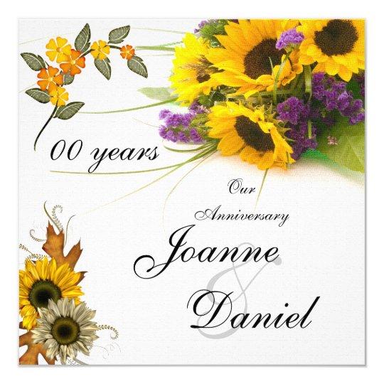 00 Anniversary Invite Sunflowers Flowers