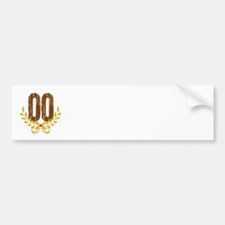 #00 Brown & Gold Wreath Bumper Sticker
